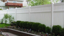 Vinyl plastic semi-privacy fence